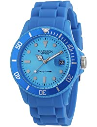 Madison New York Unisex-Armbanduhr Candy Time Analog Silikon blau U4167-06/2