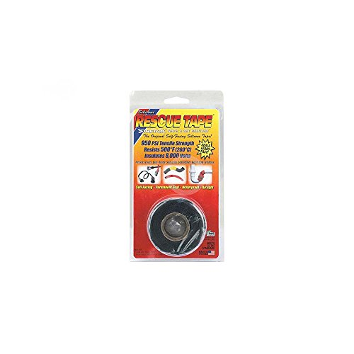 Rescue Tape RP2562 Schwarz 20 Mil 1x12ft Silikon Rescue Tape (Un-60 F 8000)