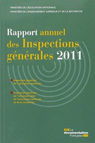 Rapport annuel des inspections gnrales 2011- IGEN IGAENR