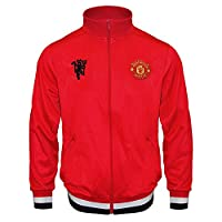 Manchester United FC Official Gift Boys Retro Track Jacket Red 8-9 Years MB