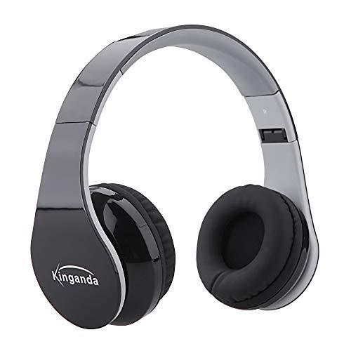 Gaming Kopfhörer für PS4 / Bluetooth Headset + mit USB-Empfänger, mit Mikrofon/Bass/Stereo/E Steuerung der Kopfhörer. Taglia unica Schwarz
