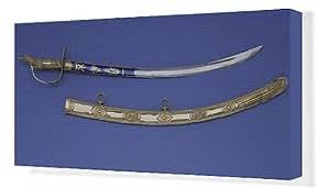 Toile de présentation épée, qui est prétendument une réplique de présentation à l'épée