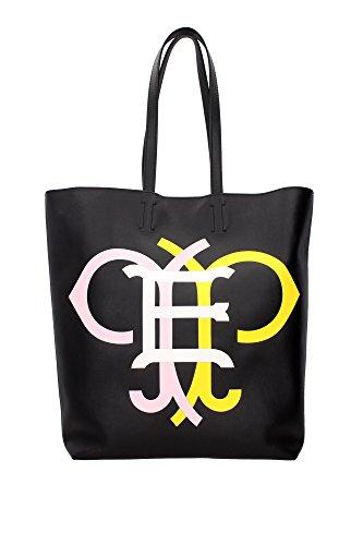 sacs-de-shopping-emilio-pucci-femme-cuir-noir-blanc-rose-et-jaune-61bc4561004n54-noir-12x30x37-cm