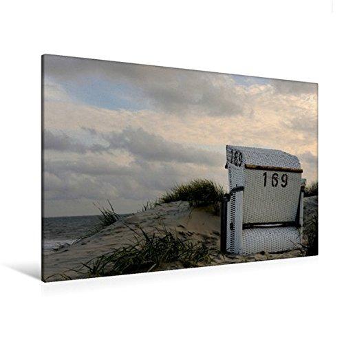 Calvendo Premium Textil-Leinwand 120 cm x 80 cm quer, EIN Motiv aus dem Kalender Strandimpressionen von der Nordsee   Wandbild, Bild auf Keilrahmen, Fertigbild Leinwand, Leinwanddruck Natur Natur