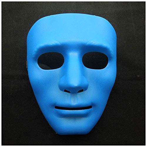 YaPin Verdicken Bboy Hip Hop Maske Tänzer Maske Halloween Maskerade Street Dance Maske Geist Erwachsene Party Leistung (Color : Blue)
