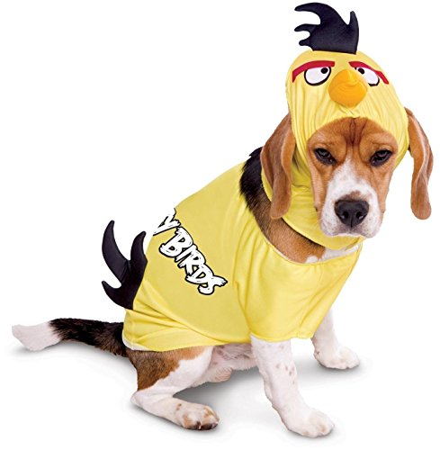 Hunde Fasching Karneval Kostüm Angry Birds Yellow Bird gelber Vogel (Medium)