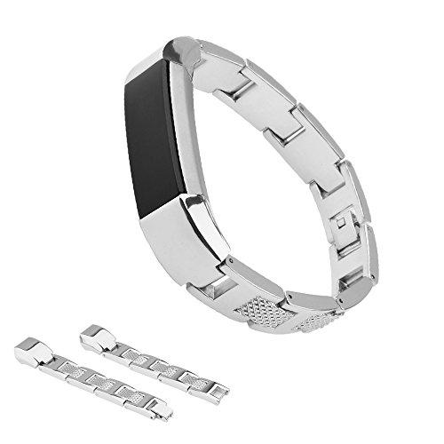 snowcinda di ricambio in acciaio inox cinturino da polso cinturino per Fitbit Alta Smart Watch