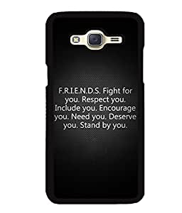 Fuson 2D Printed Quotes Designer back case cover for Samsung Galaxy J5 J500F - D4539