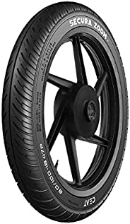 Ceat Secura Zoom 80/100 - 18 47P Tubeless Bike Tyre, Front
