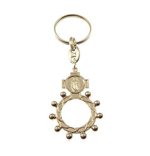 plateado-metal-catolica-rosario-anillo-rosario-llavero-regalo-milagroso-imagen