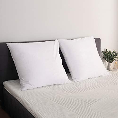 Sweetnight Kopfkissenbezug 80x80 Baumwolle Kissenbezug Doppelpack Kissenbezüge 2er Set Kissenbezug mit Reißverschluss Weiß