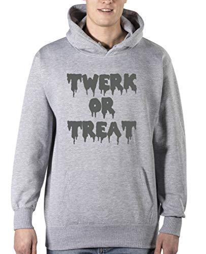 Comedy Shirts - Twerk or Treat - Halloween - Herren Hoodie - Grau/Grau Gr. 3XL