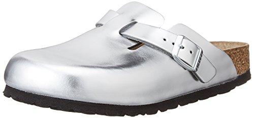 Birkenstock Damen Boston Pantoletten Silber