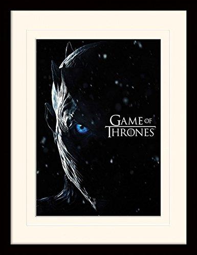 Preisvergleich Produktbild 1art1 107249 Game Of Thrones - Staffel 7, Nachtkönig, Night King Gerahmtes Poster Für Fans Und Sammler 40 x 30 cm