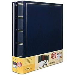 Lot de 2 albums traditionnels jumbo 100 pages pour 500 photos 10x15 - Bleu