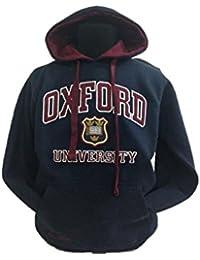Oxford University Applique - Sudadera con Capucha Unisex Navy/Maroon S
