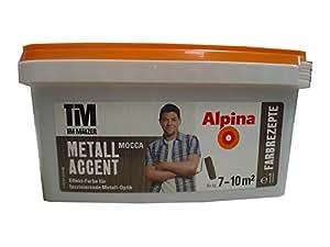 Alpina, Tim Mälzer Farbrezepte, Metall Accent Mocca, 1 L., Effekt-Farbe, Wandfarbe