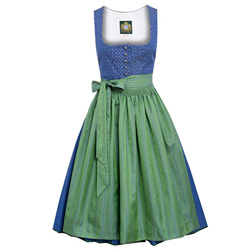 Hammerschmid Damen Trachten-Mode Midi Dirndl Pillersee in Blau traditionell