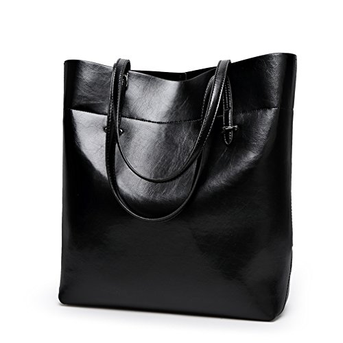 FAIRYSAN, Borsa tote donna Marrone marrón claro extra-large nero
