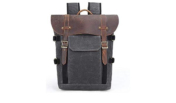 Mens Large-Capacity Multi-Function Retro SLR Camera Outdoor Travel Multi-Purpose Backpack,Darkgray LILINSS Digital Camera Backpack