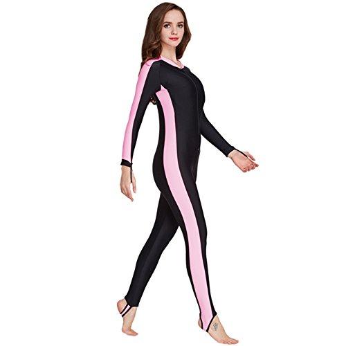 Fortuning's JDS® Stück Langarm Badeanzüge Ganzkörper Schwimmen Kostüm Surfen Anzug, Frauen (Ganzkörper Schwimmen Kostüm)