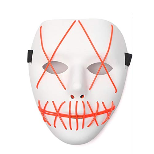 akiter Halloween Maske LED Maske LED Light Cosplay für Halloween Kostüm Rave Festivals Cosplay LED Luminous Maske Purge DJ Mask