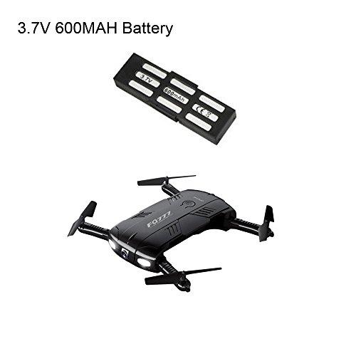 Lanspo Quadcopter 20g 1x 3,7 V 600 mAh LiPo Batterie Hohe Kapazität Für FQ777 FQ05 Drone Quadcopter Spielzeug (Schwarz)