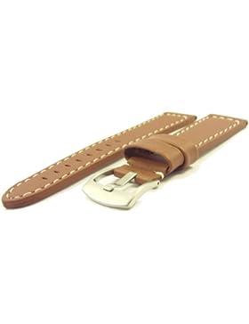 Massives ZeitPunkt-Chrono Lederband braun 20mm