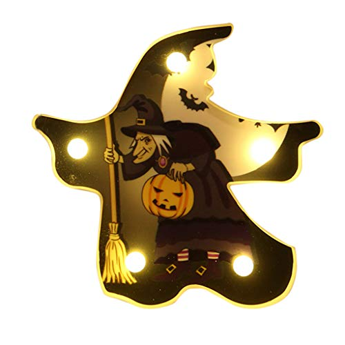 Masoness ❤️❤️ Halloween Fledermaus Spinne Schädel Kürbis Form LED dekoratives Nachtlicht,Halloween-Einstelllichter
