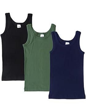 HERMKO 2800 Kit de tres camisetas interiores para chicos, hechas de algodón 100%, buena resistencia, sin sustancias...