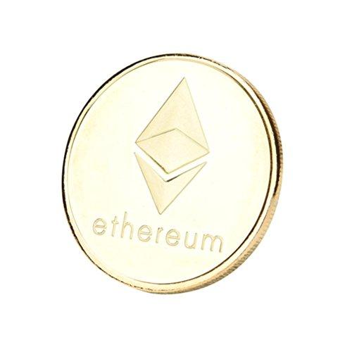 Dekoartikel Münzen,Jaminy 4X Vernickelt Gedenk Litecoin ETH Sammler Gold Eisen Miner MÜNze Geschenk - 6