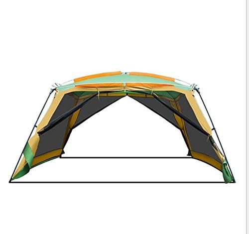 enoche Gartenpavillon Deluxe 365x365x215cm für Festivals, Garten und Camping, stabile Stahlstangen Konstruktion, großes Eventzelt mit Sonnenschutz LSF 50+ (grau), Unisex, andere