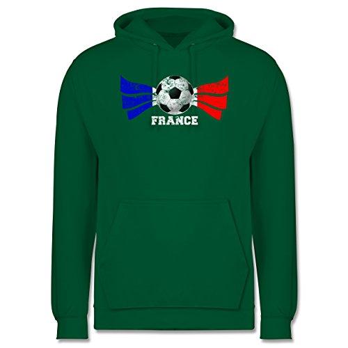 EM 2016 - Frankreich - France Fußball Vintage - Männer Premium Kapuzenpullover / Hoodie Grün