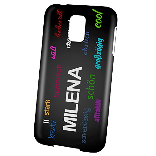 "PhotoFancy - Samsung Galaxy S5 Handyhülle mit Name Milena - Design ""Positive Eigenschaften"""