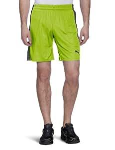 PUMA Herren Hose Powercat 5.12 Shorts with Inner Slip, Lime Punch/Dark Shadow, S, 701266 24