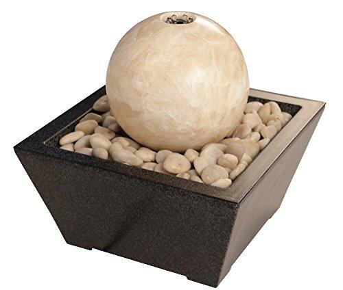 l mit Marmor-Kugel in beige inkl. Behälter, Zimmerbrunnen ()