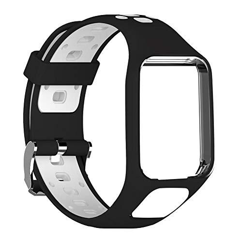 Juman634 Uhrenarmband, Für Tomtom 2 Generation Spark-Serie der 3. Generation Läufer 2 3er-Serie Golfer 2-Serie GPS-Uhr Silikon-Ersatzband-Armband 24 cm lang Serie Gps