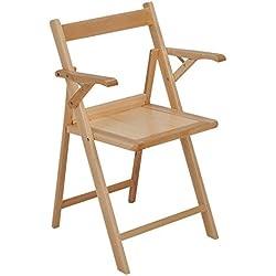 Silla plegable, silla de madera, silla cocina, terraza jardín Norte Brazos - sinbarniz