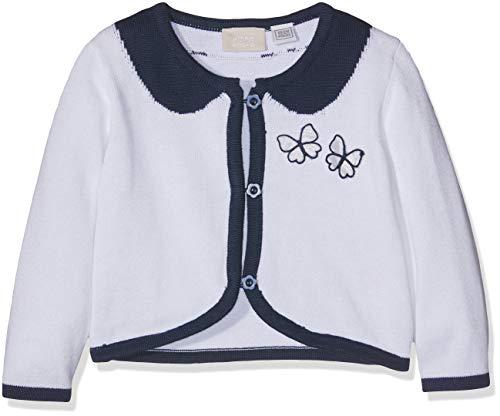 Chicco Baby-Mädchen Cardigan Strickjacke, Blau (Bianco E Blu 038), 50 (Herstellergröße: 056)
