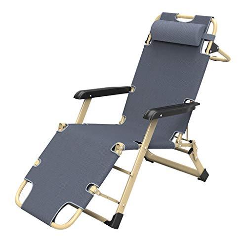 XD Lounge chair Chaise Longue 3 Positions RéGlables en Acier, Cadre en Acier 800d Oxford Inclinable, Lit Pliant pour Le DéJeuner, Sieste, pour Terrasse, Soutien, Piscine, Plage, Support, 440lbs