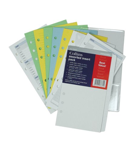 Collins Personal Organiser Assorted Refill Pack - Multicoloured