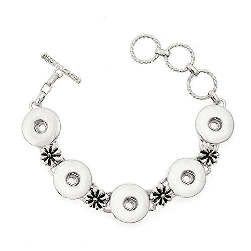 Elegante Snap (FRLISR Armband,Glamour Metal Lady Schöne Elegante Vintage Armband Geeignet Für Snap Modeschmuck Party Nachtclub Geschenk (Geeignet Für 18 Mm 20 Mm Snap))