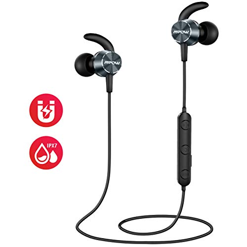 Auricolari Wireless Sport, Mpow Cuffie Bluetooth con Doppia EQ, Auricolari Bluetooth IPX7 Impermeabile/ 8-10 Ore di Gioco/Suono ad...