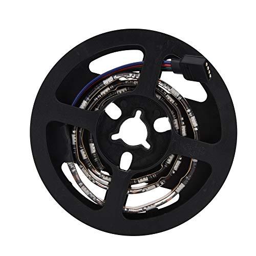 Mugast Streifen Licht,Wasserdicht USB RGB LED Weich Streifen Licht Hintergrundbeleuchtung Flexible Streifen Licht Einfach Installation für Computergehäuse Spielekonsole TV(0.5M)