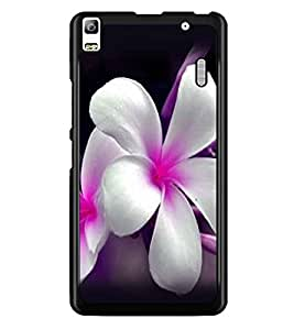 PrintDhaba Beautiful Flowers D-1067 Back Case Cover for LENOVO A7000 PLUS (Multi-Coloured)