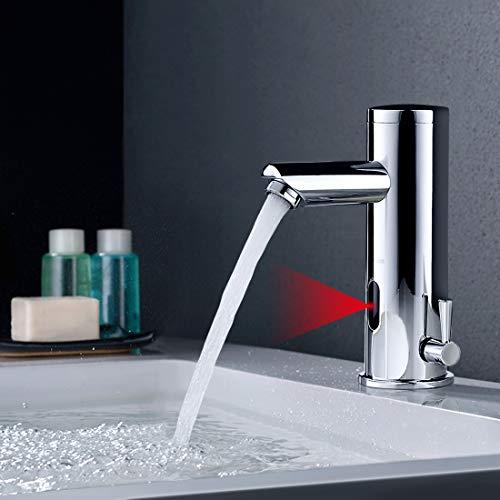 BONADE Infrarot Sensor Wasserhahn Bad Automatik Waschtischarmatur Badarmatur Armatur Waschbecken Mischbatterie Einhebelmischer für Badezimmer -