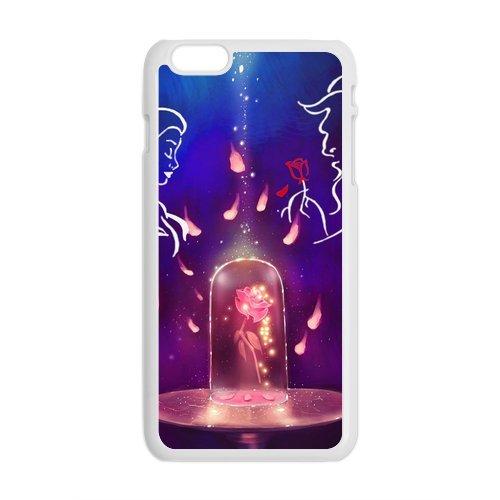 """iPhone 6Plus (5,5) Design Étui cover case-Beauty And The Beast TPU Étui Coque de Protection pour iPhone 6Plus (5.5"""") (Blanc/Noir)"""