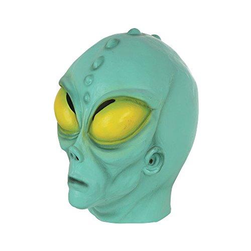 Bristol Novelty BM530 Alien Maske, grün, Einheitsgröße