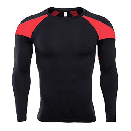 Mymyguoe Hombres Camiseta de Mangas largas Camiseta Bodybuilding Piel  Tight-Dry Tops Deportivos Blusas Ajustado e1d2284b2cd87