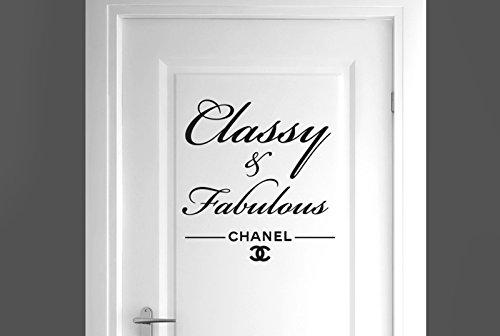 chanel-classy-and-fabulous-tur-zimmer-wandtattoos-wandaufkleber-schwarz-hohe-43cm-x-breite-40cm